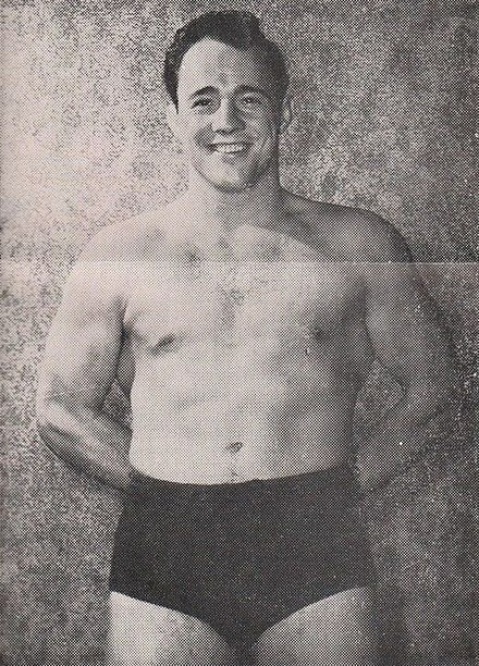 Gagne in the early 1950s Vern Gagne - 28 April 1953 Minneapolis Auditorium Wrestling Program.jpg