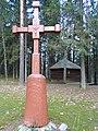 Višakio Rūda, kryžius prie koplyčios.JPG