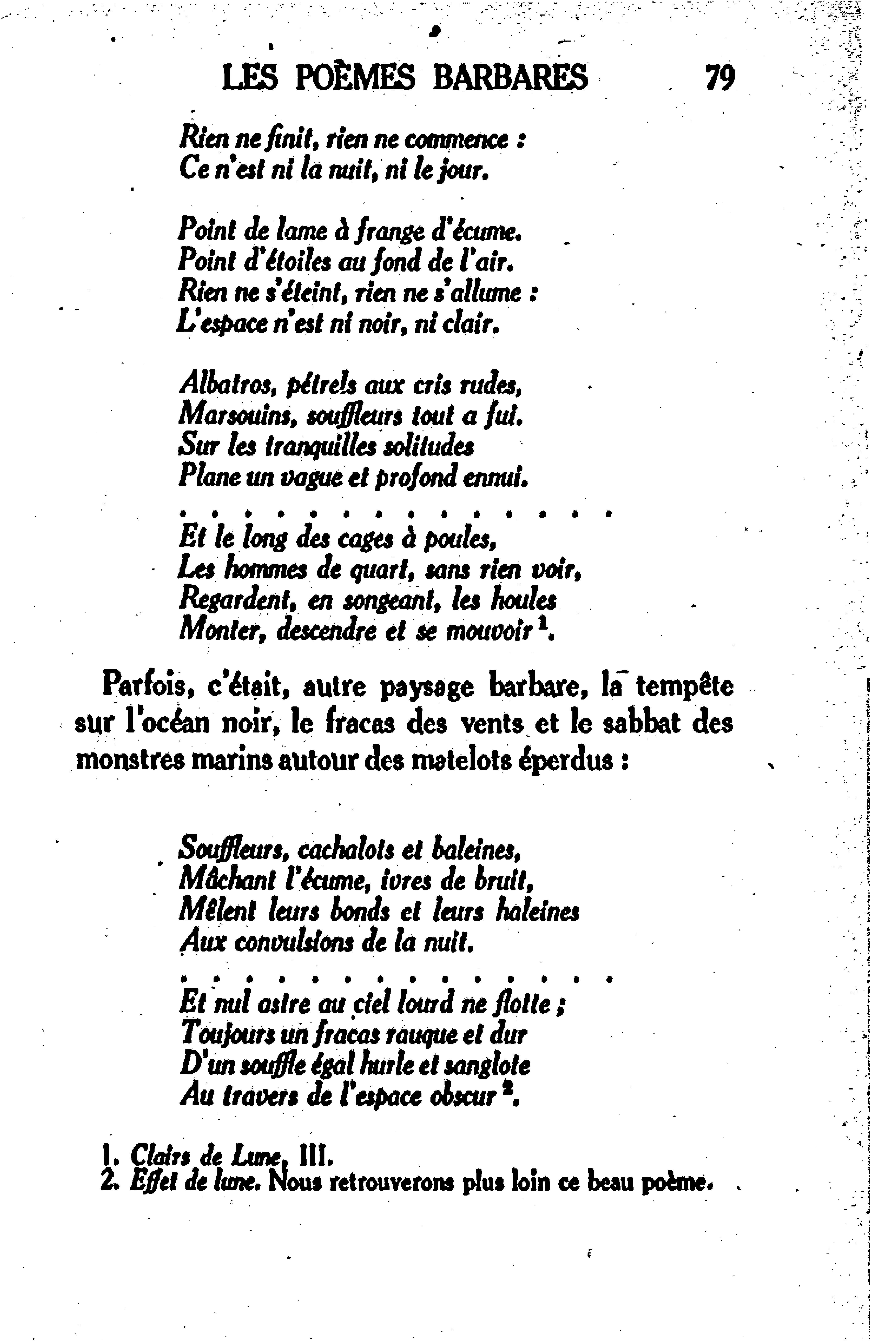 Pagevianey Les Poèmes Barbares De Leconte De Lisle 1933