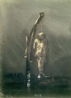 Ravel - Gaspard de la Nuit: de la poésie à la musique 300px-Victor_Hugo_Le_pendu_1854