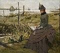 Victor Lagye - Draughtswoman at the banks of the Scheldt.jpg