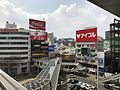 View from platform of Kokura Station (Kitakyushu Monorail) 2.jpg