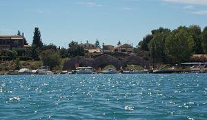 Venetian arsenal, Gouvia - View of the Corfu Venetian arsenal from the bay of Gouvia