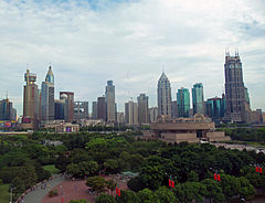 View over People's Park from the Shanghai Urban Planning Exhibition Center.jpg