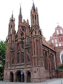 Vilnius.Sv.Onos baznycia.Saint Ann's church2.jpg