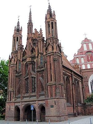 Alexander Jagiellon - Image: Vilnius.Sv.Onos baznycia.Saint Ann's church 2