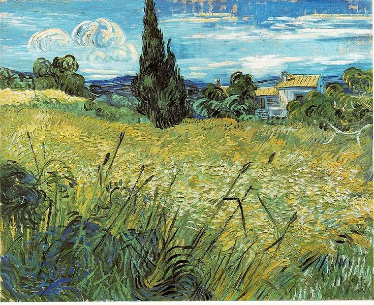 Wheatfield With Cypresses Wallpaper File:Vincent van Gogh ...