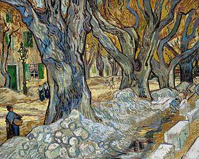 Vincent van Gogh - Les grands platanes (Travailleurs de la route à Saint-Rémy).jpg