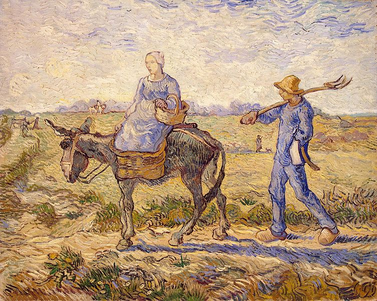 File:Vincent van Gogh - Morning, going out to Work.jpg
