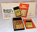 Vintage Texas Instruments TI Business Analyst I Electronic Pocket Calculator, Made In USA, Circa 1979 (35350709375).jpg