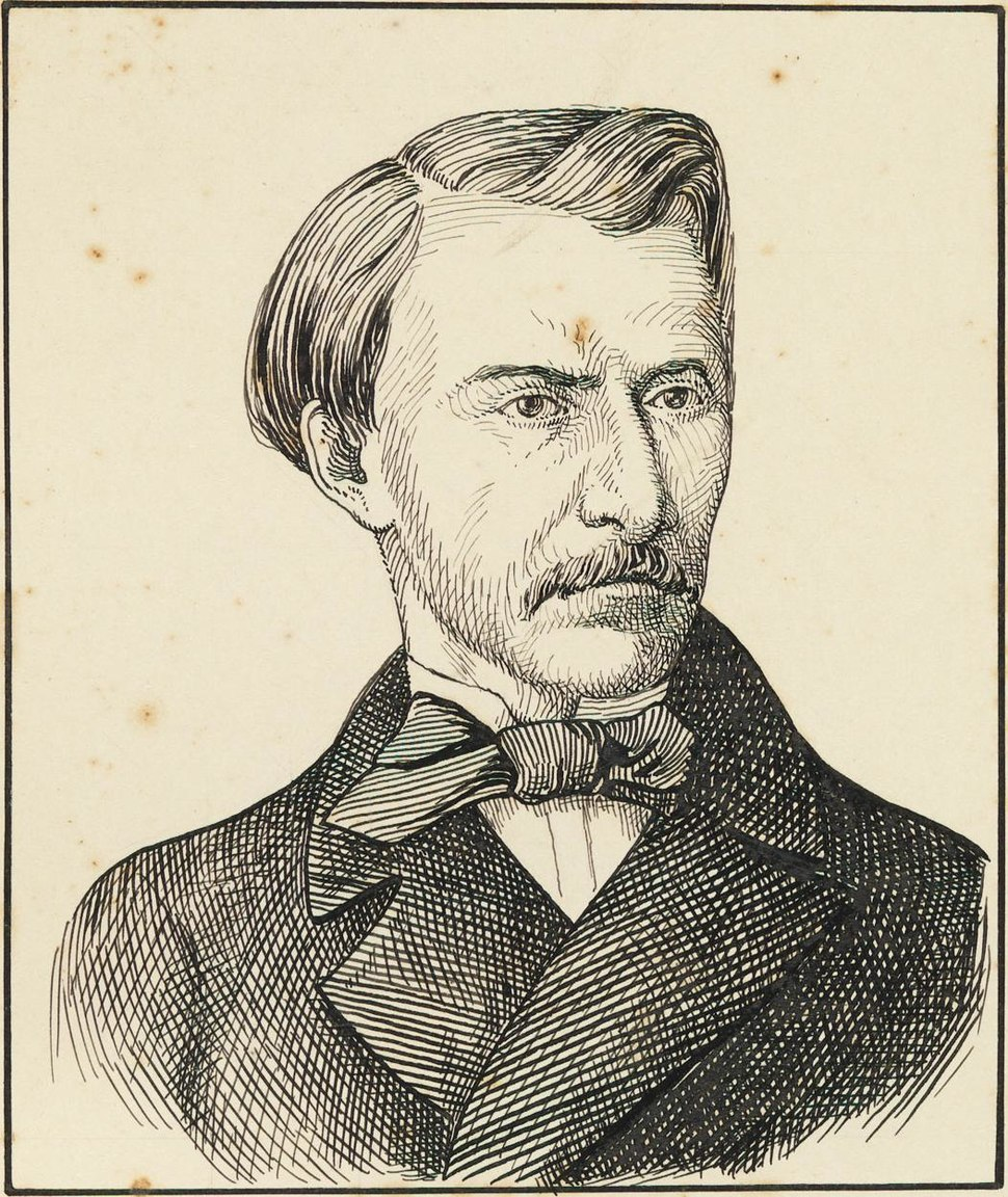 A drawing of Gonçalves de Magalhães