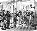 Visite de Léopold et Marie-Henriette à l'empereur Napoléon III le 12 octobre 1855.jpg