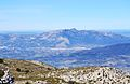 Vista de Cocentaina i la serra de Mariola des del cim del Pla de la Casa.JPG