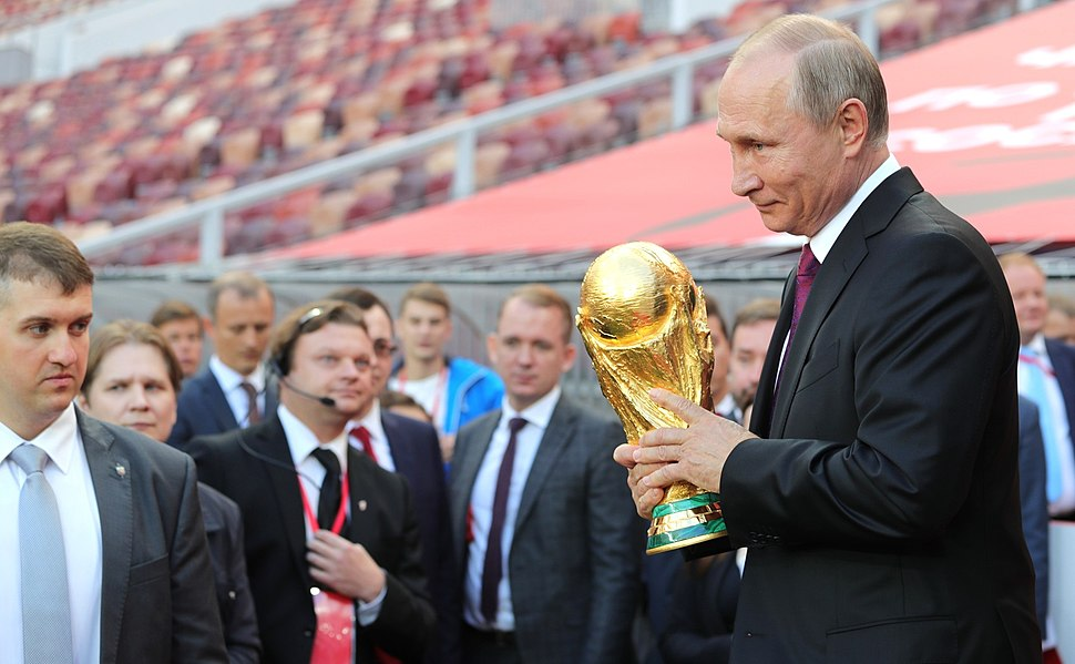 Vladimir Putin FIFA World Cup Trophy Tour kick-off ceremony