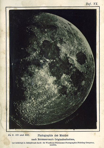 Moon, New York, 6 March 1865 – Lewis M. Rutherfurd (misspelled as Rutherford in this frontispiece of the 1873 book by Hermann Wilhelm Vogel)