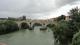 Capua, bridge over the Volturno