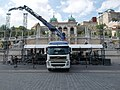 Volvo FM truck and PK36002 crane at Castle Bazaar, 2018 Várkerület (2).jpg