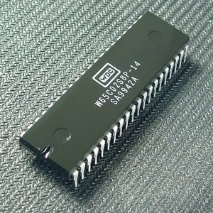 WDC 65C02 - W65C02S microprocessor in a PDIP-40 package.