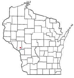 Location of Ettrick, Wisconsin