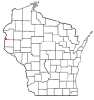 Location of Farmington, Polk County, Wisconsin