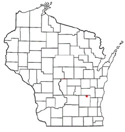Location of LeRoy, Wisconsin