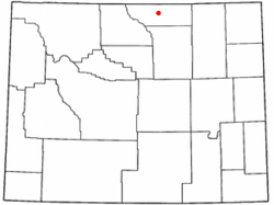 Location of Sheridan, Wyoming