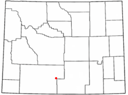 Location of Wamsutter, Wyoming