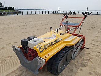 Sand cleaning machine - Image: Walk Behind Beach Cleaner