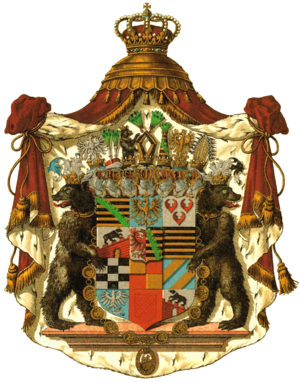 Principality of Anhalt - Coat of arms of the 19th-century Duchy of Anhalt.