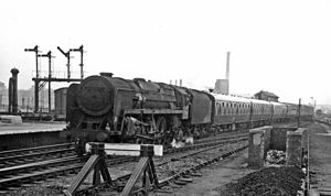 Rail accidents in Winsford - A Britannia-class locomotive hauling a passenger train on the West Coast Main Line.