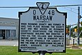 Warsaw historical marker at Richmond County Courthouse.jpg