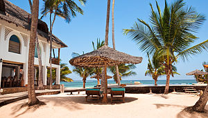 Economy of Kenya - WaterLovers Beach Resort, Diani Beach.