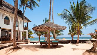 Economy of Kenya - WaterLovers Beach Resort, Diani Beach.