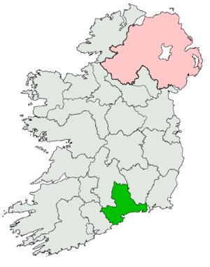Waterford–Tipperary East (Dáil Éireann constituency) - Image: Waterford Tipperary East Dáil constituency 1921 1923