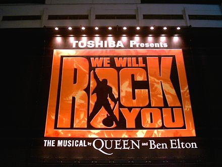 We Will Rock You musical in Tokyo, Japan, November 2006 We Will Rock You (musical Tokyo).jpg