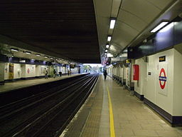 Wembley Central stn tube look south