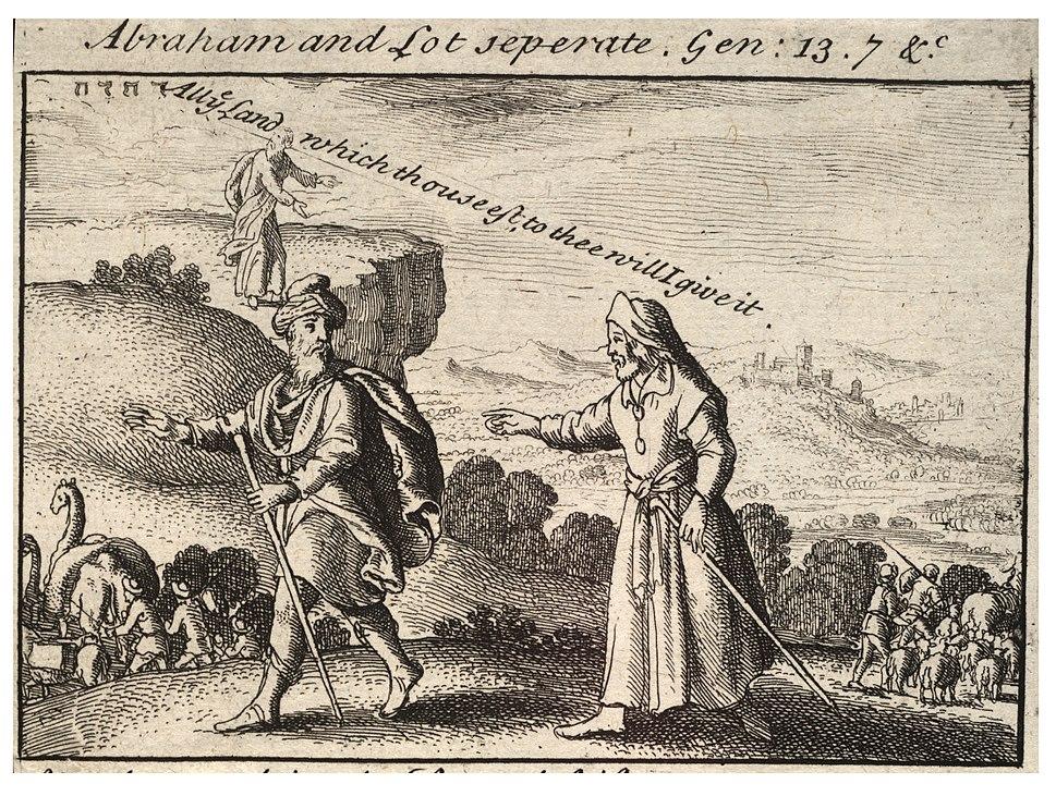 Wenceslas Hollar - Abraham and Lot separating (State 2)