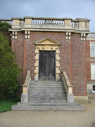 Gibbs surround - Side door at Wimpole Hall, Cambridgeshire, by James Gibbs