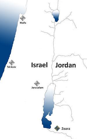 Zoara - Possible location of Zoara.