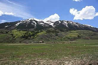 West Elk Mountains - Whetstone Mountain in the West Elk Mountains