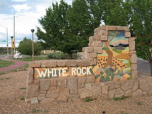 White Rock, New Mexico - Sign at entrance to White Rock