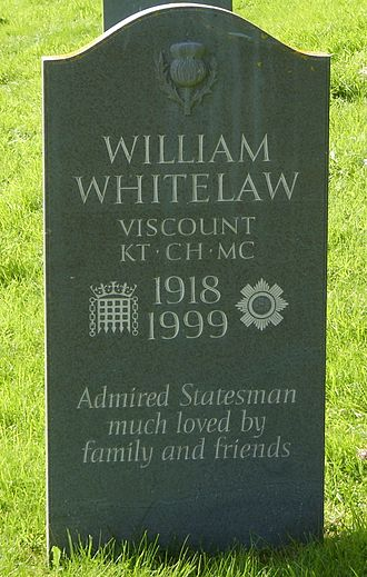 William Whitelaw, 1st Viscount Whitelaw - The grave of William Whitelaw