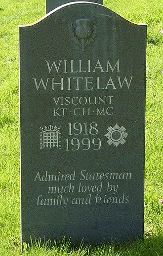 William Whitelaw, 1st Viscount Whitelaw - The grave of William Whitelaw