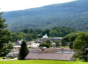 Whitwell, Tennessee - View of Whitwell with the Cumberland Plateau in the background