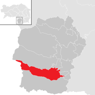 Location of the municipality Wies in the district of Deutschlandsberg (clickable map)
