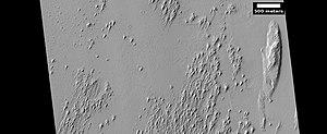 Yardangs on Mars - Image: Wiki ESP 035295 1885yardangstop