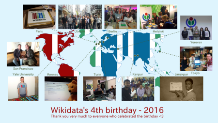 Wikidata Birthday map