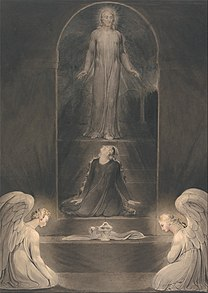 BLAKE William - Mary Magdalen at the Sepulchre circa 1805