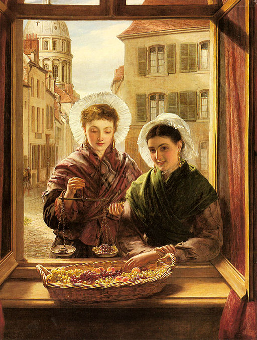 William Powell Frith At my Window, Boulogne