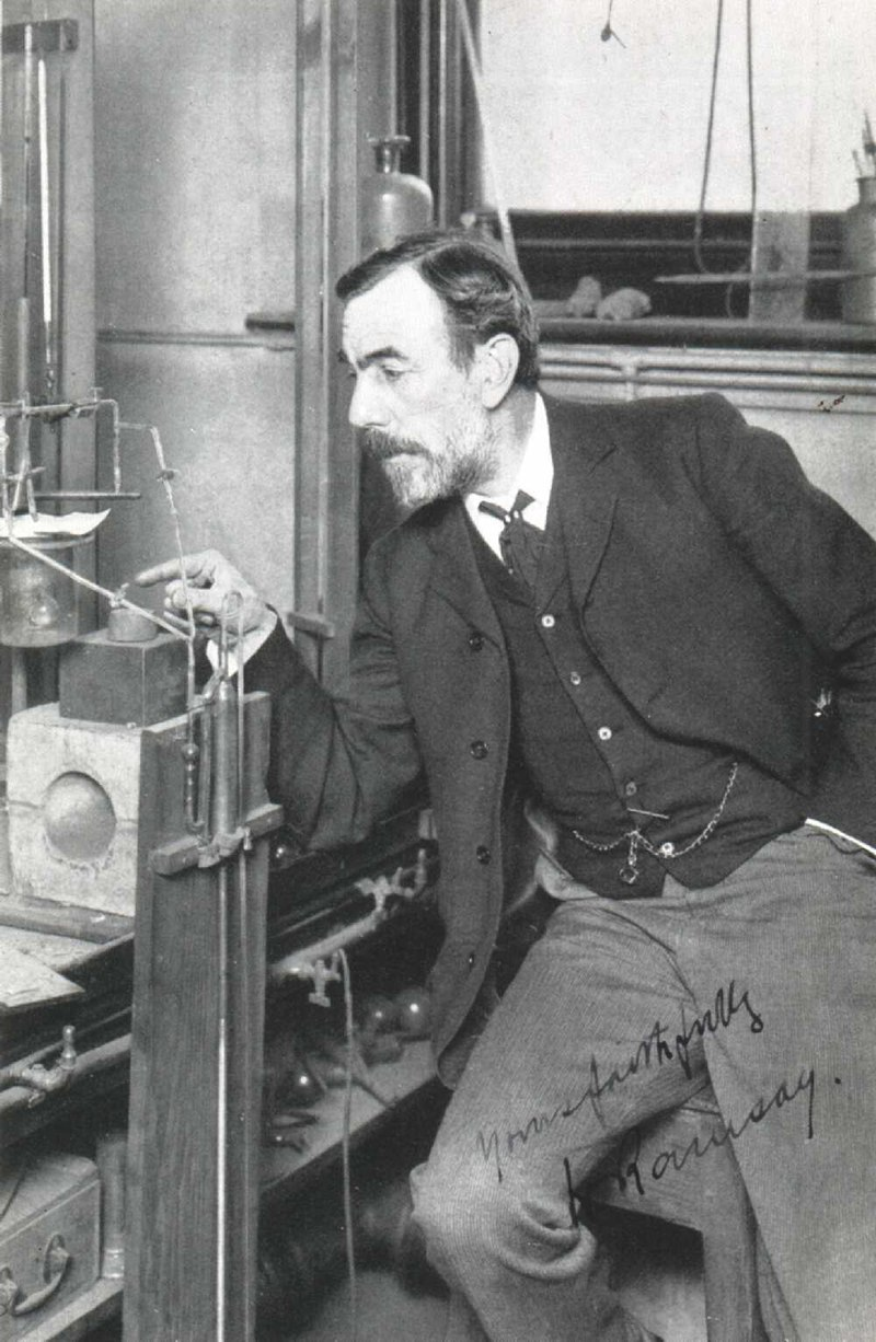 William Ramsay working